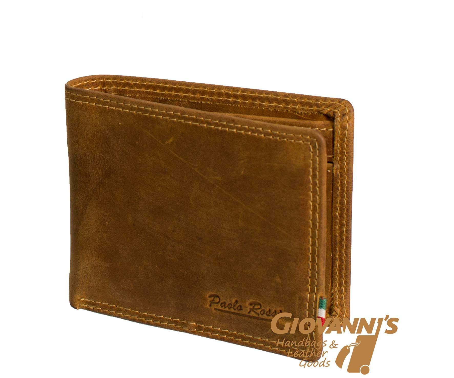 Giobags H1 Paolo Rossie Bifold Leather Wallet