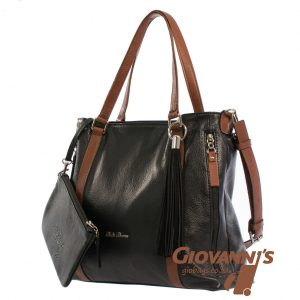D-390 Bella Bianca Large Tote Leather Handbag