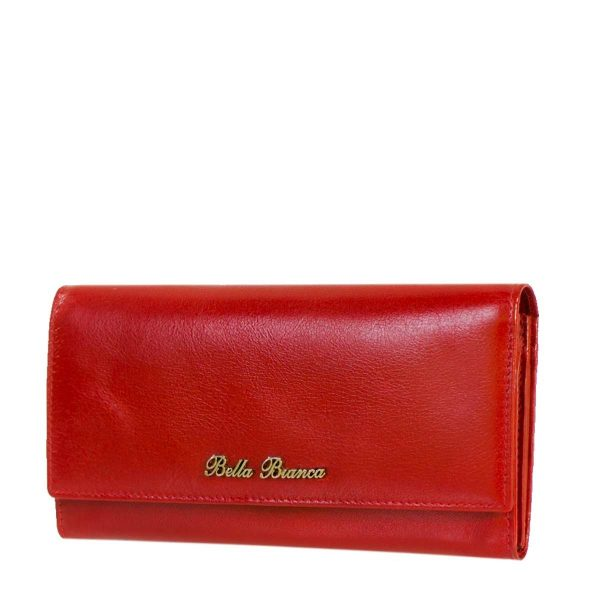 Giobags D-504 Bella Bianca Red Leather Purse