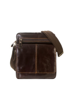 Gio Leather Multi Compartment Sling Bag