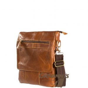 Gio Leather Flap Over Sling bag