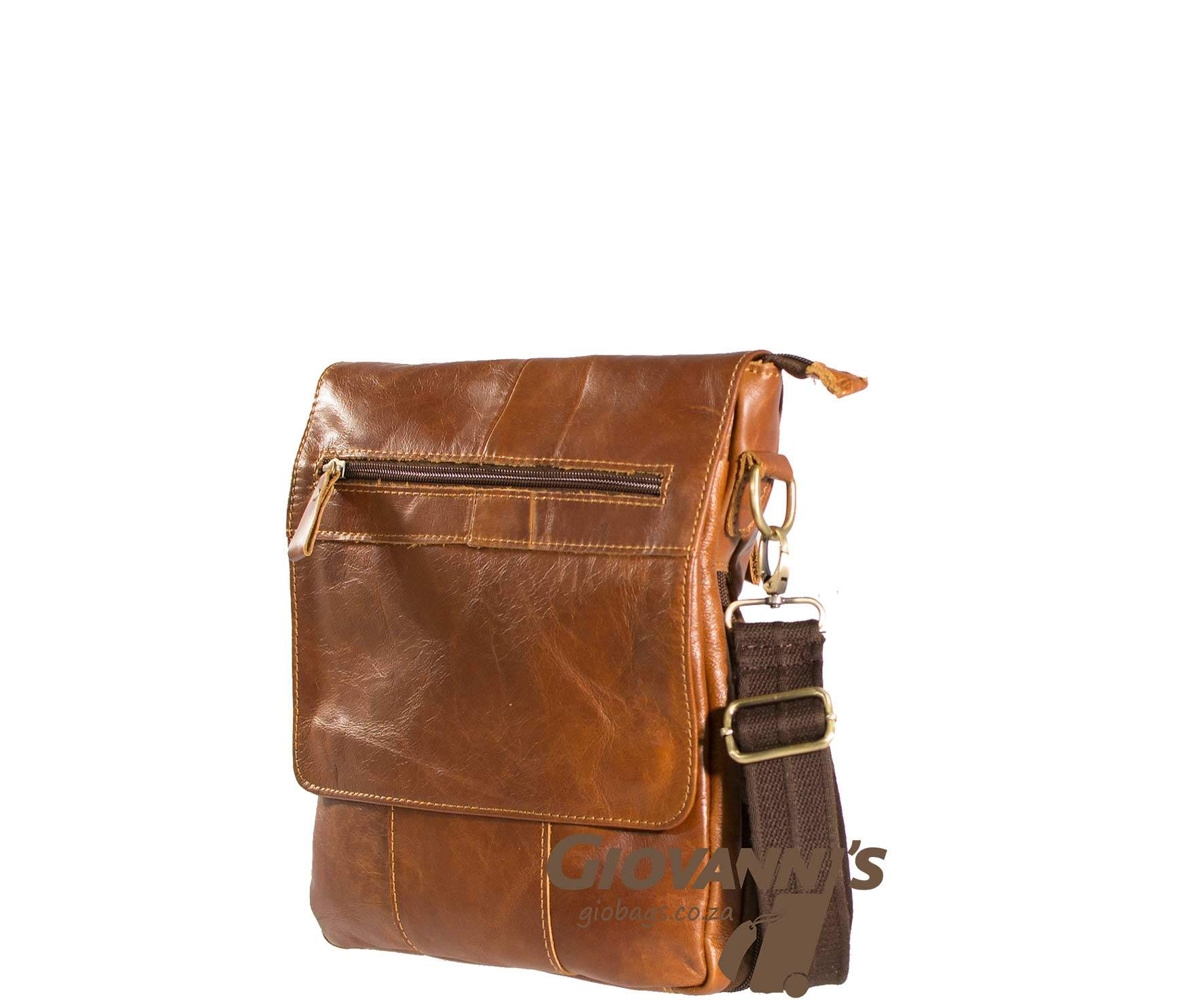Giobags Gio Leather Flap Over Sling bag