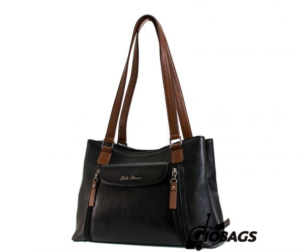 Giobags V-105 Bella Bianca Leather Handbag