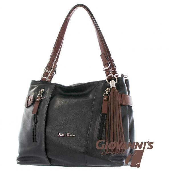 D-391 Bella Bianca Leather Handbag