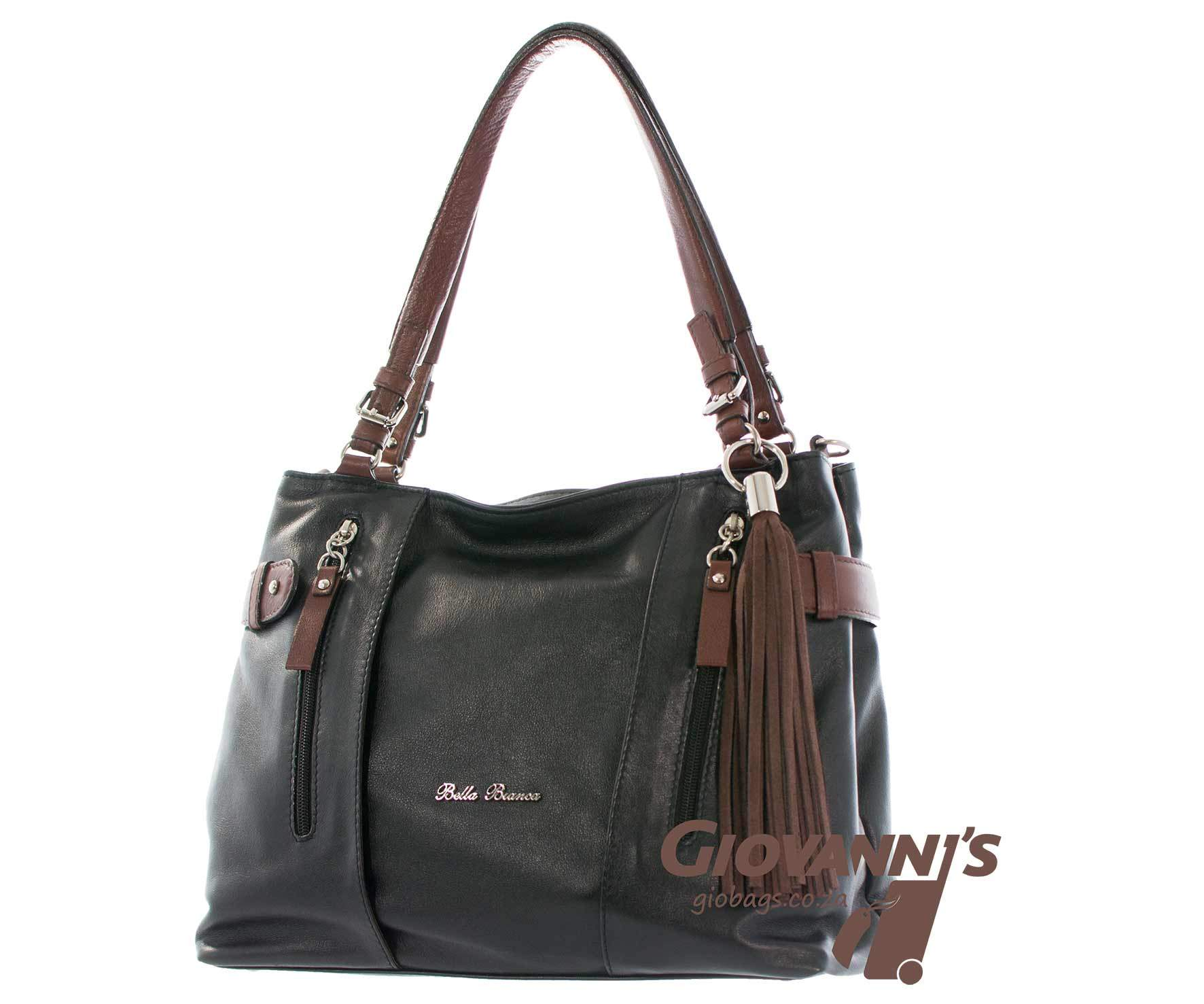 Giobags D-391 Bella Bianca Leather Handbag