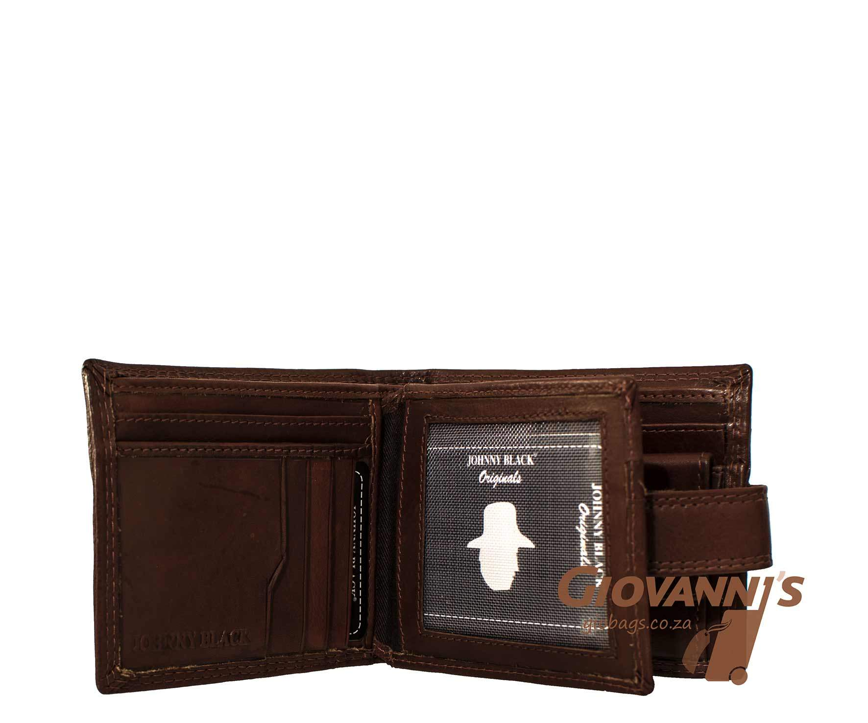 Johnny Black Mens Bavaria Leather Wallet W-88T