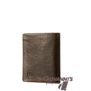 Brando Leather East Wood Tri Fold Leather Wallet