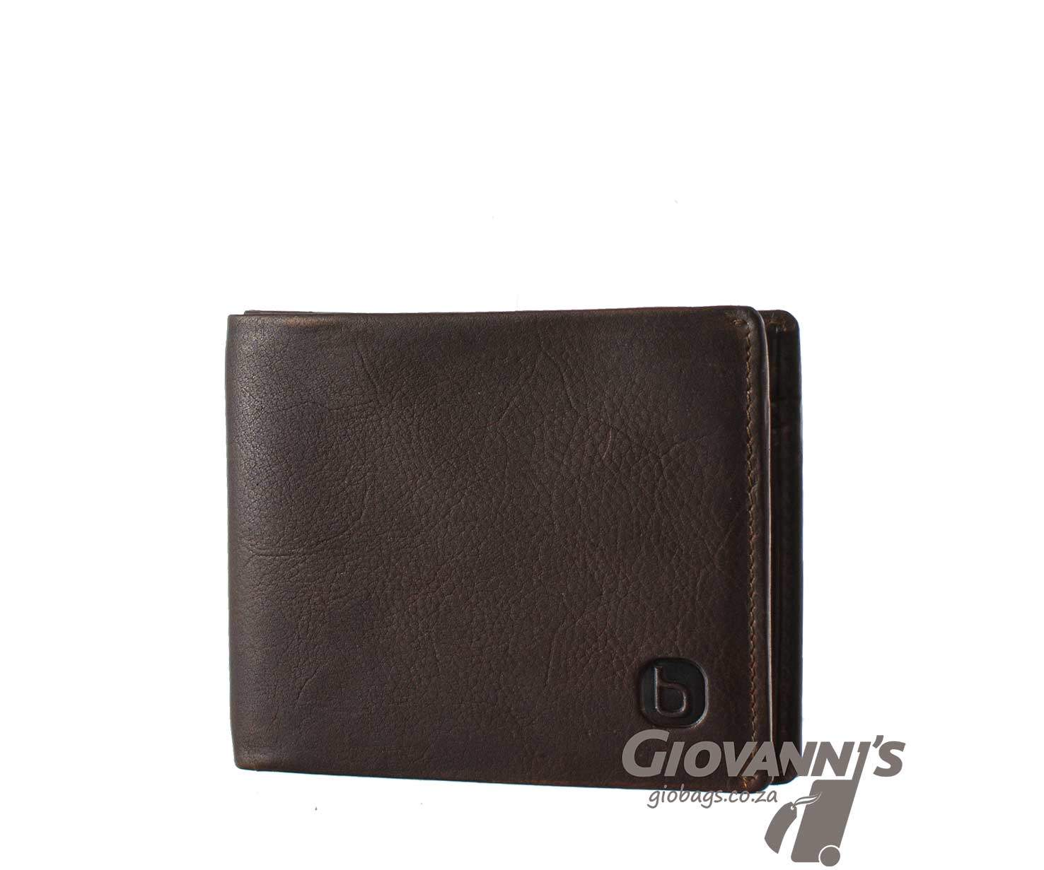 Giobags Brando Leather East Wood Billfold Wallet