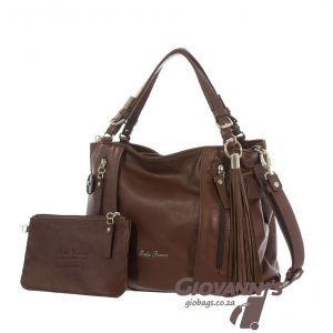 Bella Bianca Leather Handbag Brown | D-391