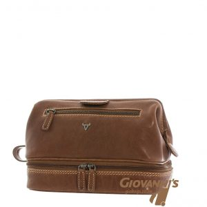 Brando Leather Vintage Toiletry Bag