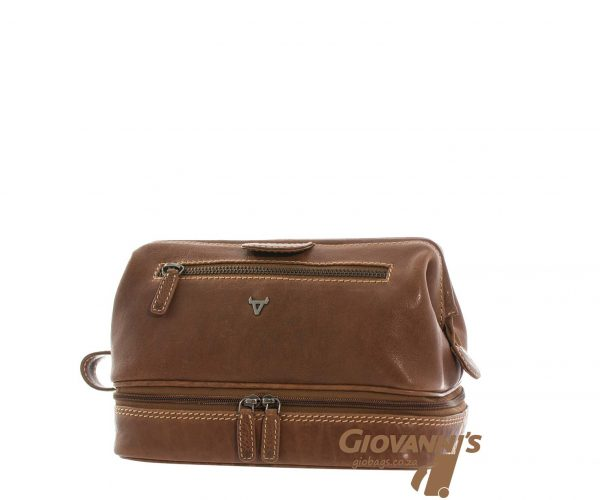 Giobags Brando Leather Vintage Toiletry Bag