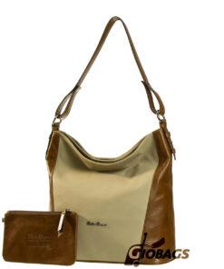 Bella Bianca Leather Shoulder Bag | D426