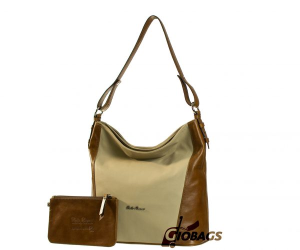 Giobags Bella Bianca Leather Shoulder Bag | D426