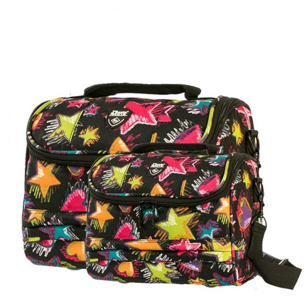 Giobags Travelmate Hearts & Stars 2 Piece Vanity Case