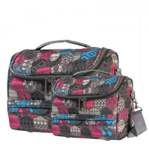 Travelmate Abstract Print 2 Piece Vanity Case