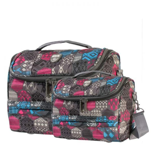Giobags Travelmate Abstract Print 2 Piece Vanity Case