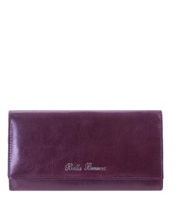 Bella Bianca Purple Leather Purse
