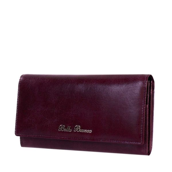 Giobags Bella Bianca Purple Leather Purse