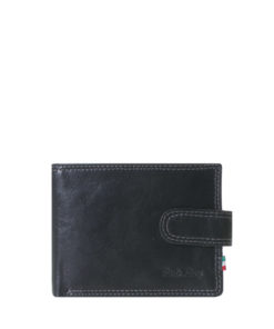 Paolo Rossi Leather Wallet   N-009 Black