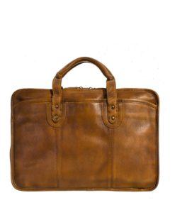 Large Tan Leather Laptop Bag