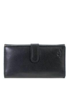 Black Genuine Leather Ladies Purse