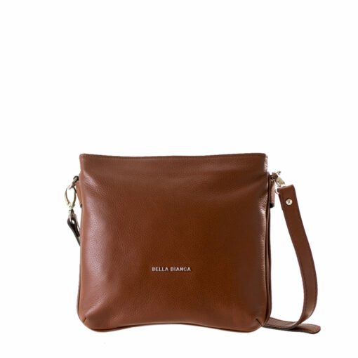 Bella Bianca Multi Compartment Leather Sling Bag